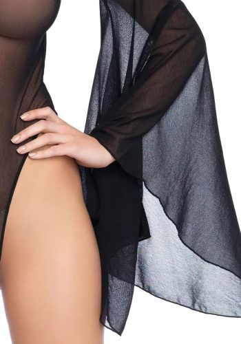 Leg Avenue Bodystocking Sheer Bell Sleeve