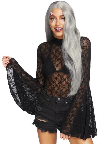 Leg Avenue Bodystocking Lace Bell Sleeve