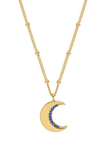 CZ Moon Necklace
