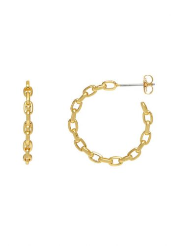 Estella Bartlett Chain Hoop Earrings
