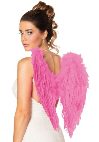 Feather Angel Wings - Fuchsia Pink