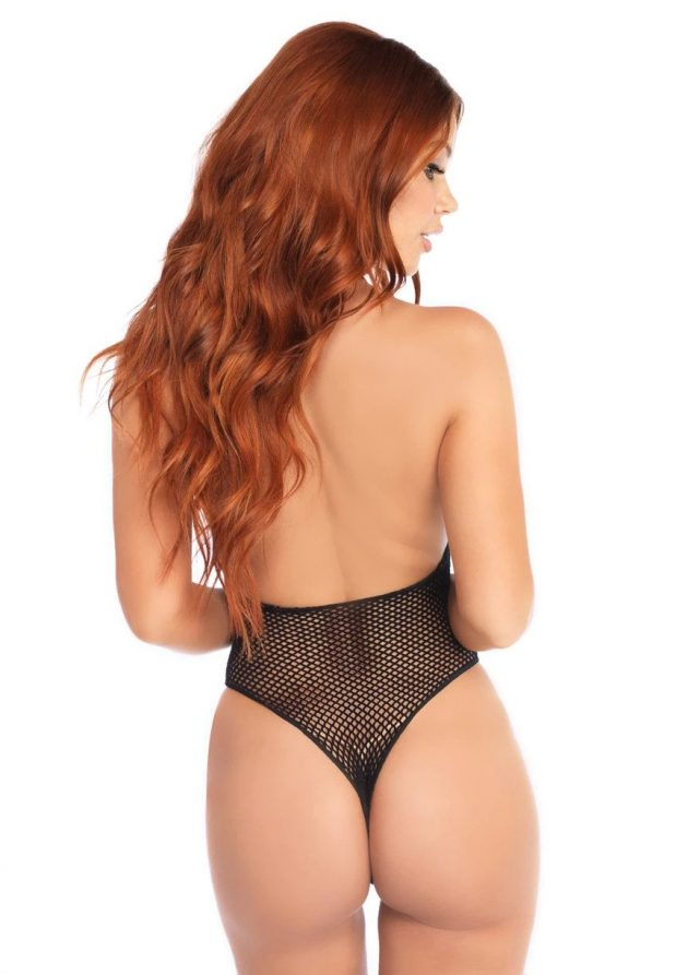 Leg Avenue Bodystocking Fishnet Zipper