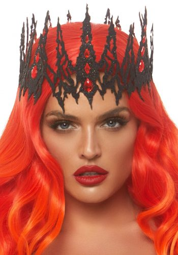 Leg avenue Jewelled Crown - Black