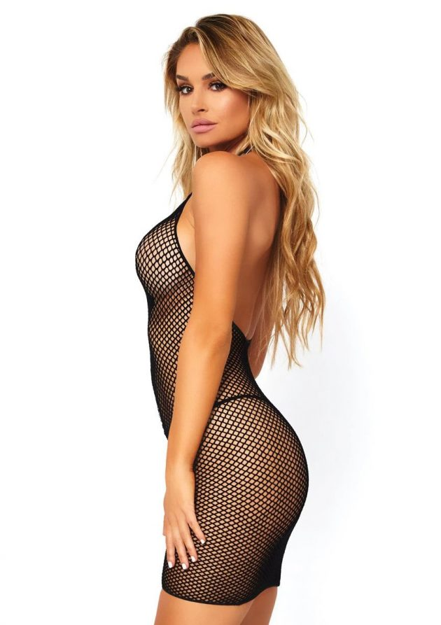 Leg Avenue Bodystocking Fishnet Zipper Dress
