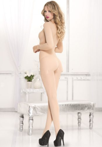 Leg Avenue Opaque scoopneck long sleeve bodystocking