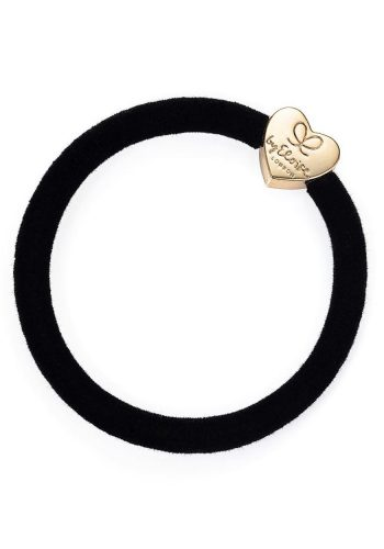 Velvet Gold Heart | Black