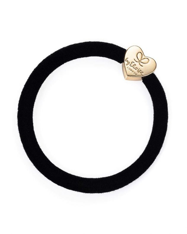ByEloise Velvet Gold Heart | Black