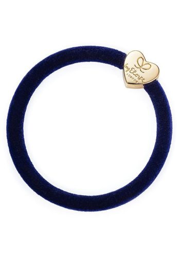 Velvet Gold Heart | Navy