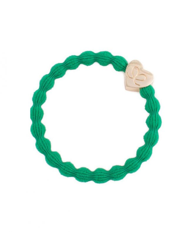 ByEloise Gold Heart | Emerald Green
