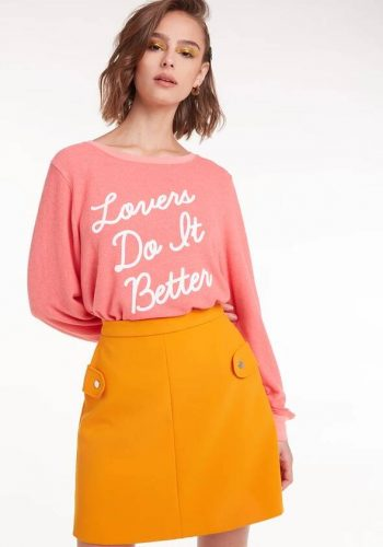 Wildfox Lovers Do It Better Baggy Beach Jumper
