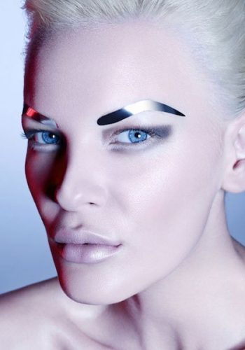 FACE LACE BROWS: GUN METAL