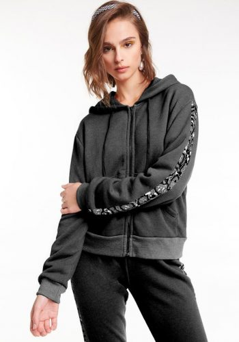 WILDFOX Python Track Everyday Hoodie Clean Black