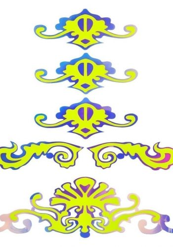 FACE LACE SKULLUMINATION – UV FLUORESCENT YELLOW