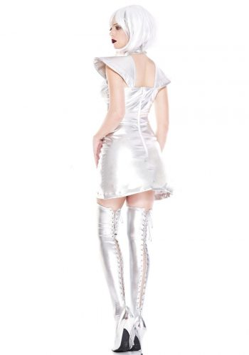 MISIC LEGS Space Cadet Girl Costume - Silver