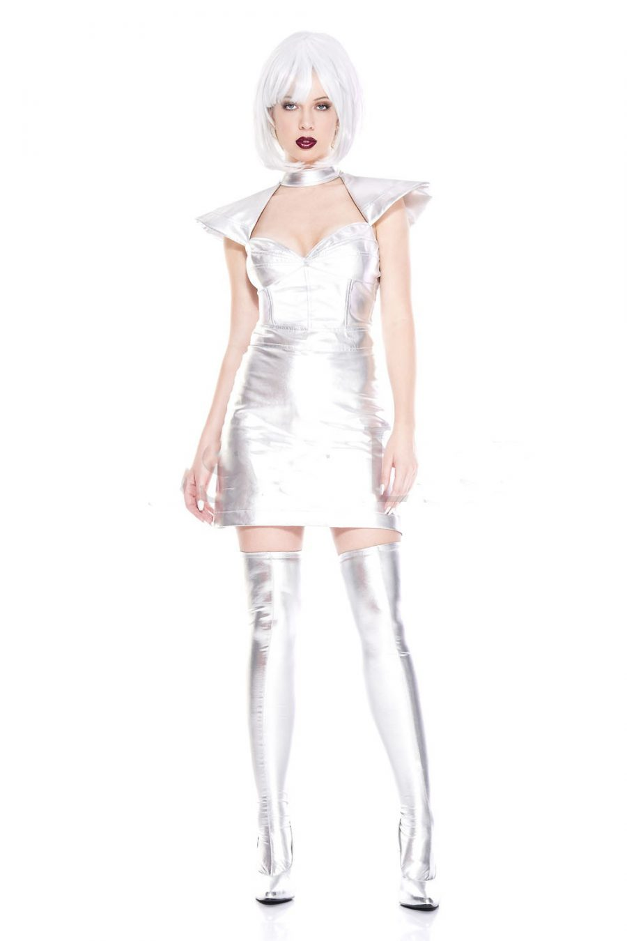 BUY IN STORE ONLY – Music Legs Space Cadet Girl Costume – Silver