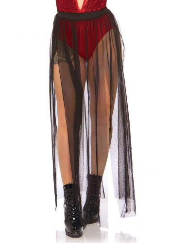 Leg Avenue Multi Slit Sheer Skirt