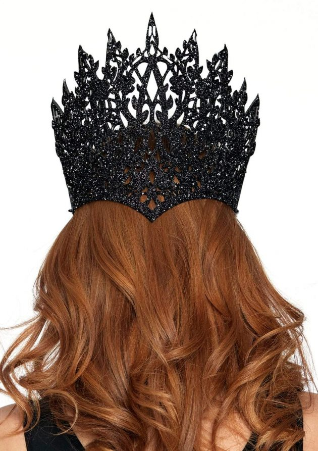 Leg avenue Die Cut Glitter Crown with Jewel - Black