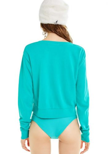 Wildfox High Girl Zoey Crop - Turquoise