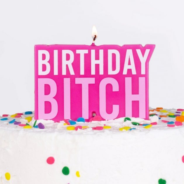 PINK BIRTHDAY BITCH BIRTHDAY CAKE CANDLE – NAUGHTY PARTY
