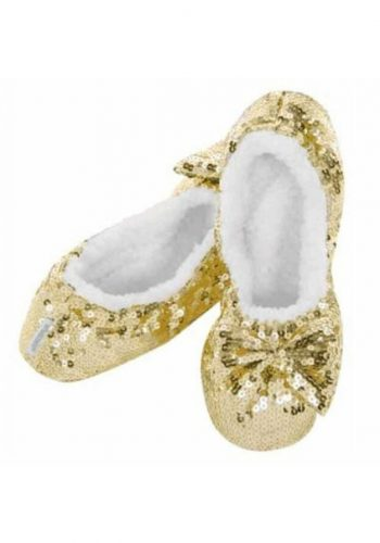 Snoozies Ballerina Bling Slippers Glitter Princess Sparkle