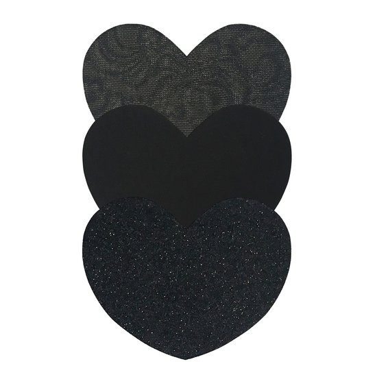 MAGIC BODY FASHION HEART COVERS - BLACK