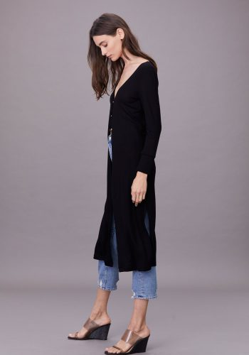 LNA CLOTHING RIBBED EMMIT CARDIGAN