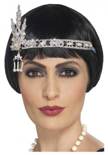Flapper Jewel Headband -  Silver