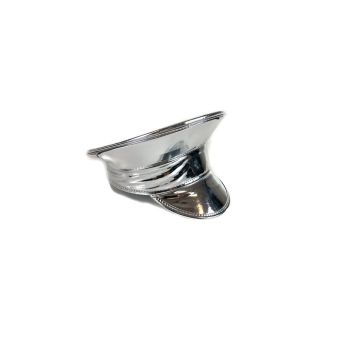 PATENT FESTIVAL POLICE HAT – SILVER