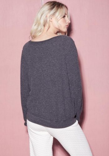 Wildfox Cozy in Love Jumper - Charcoal Grey