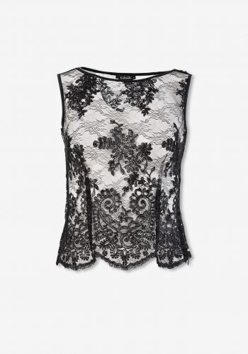 Kiki Riki Sleeveless Guipure Lace Blouse - Black