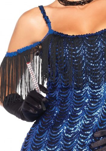 Leg Avenue Gatsby Flapper Dress - Royal Blue & Black