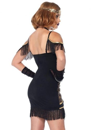 Leg Avenue Speakeasy Sweetie Dress - Black & Gold
