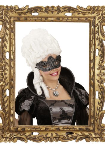 ANTIQUE SILVER NOBLESSE LACE EYEMASK