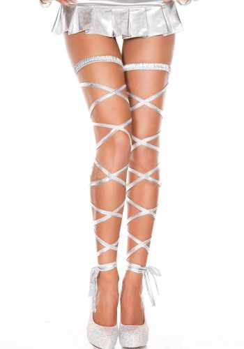 Music Legs Metallic Leg Wrap - Silver