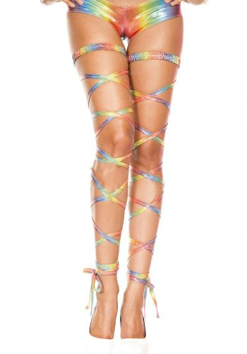 Music Legs Metallic Leg Wraps - Rainbow