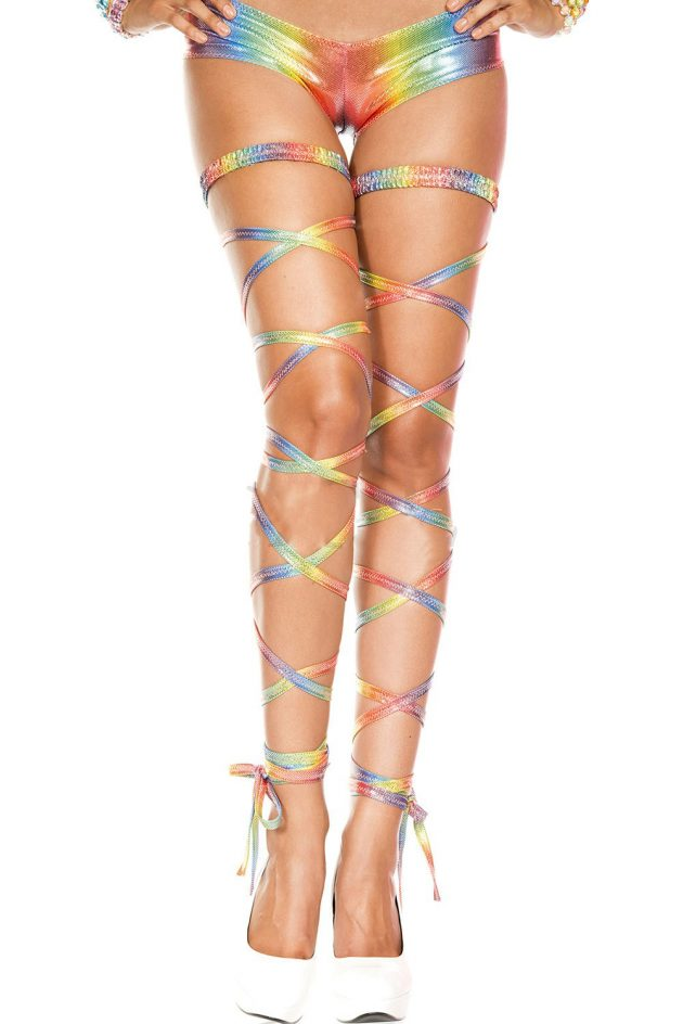 Music Legs Metallic Leg Wraps – Rainbow