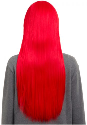 COLOUR PARTY STRAIGHT FULL HEAD WIG - Red