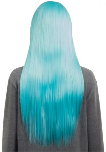 COLOUR PARTY STRAIGHT FULL HEAD WIG - Turqu