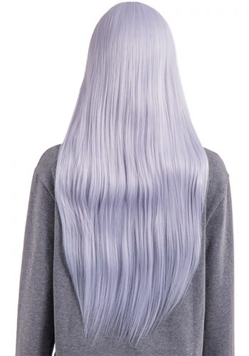 COLOUR PARTY STRAIGHT FULL HEAD WIG - Silver