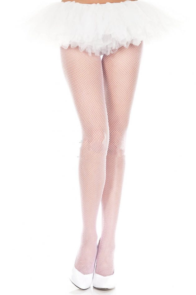 MUSIC LEGS FISHNET TIGHTS – WHITE