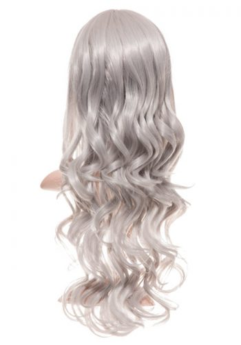 COLOUR PARTY CURLY FULL HEAD WIG - Grey