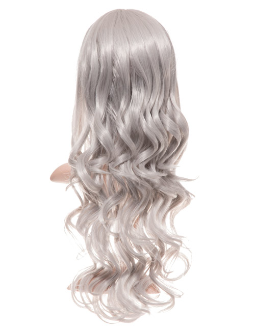 COLOUR PARTY CURLY FULL HEAD WIG – Grey