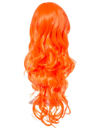 COLOUR PARTY CURLY FULL HEAD WIG – Orange