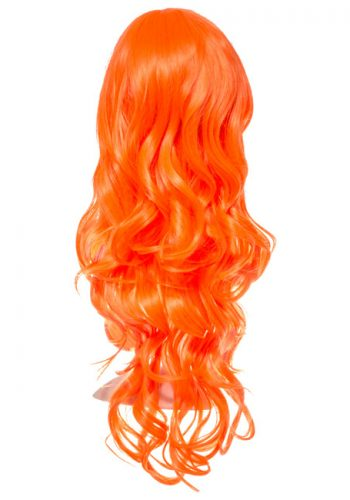 COLOUR PARTY CURLY FULL HEAD WIG - Orange