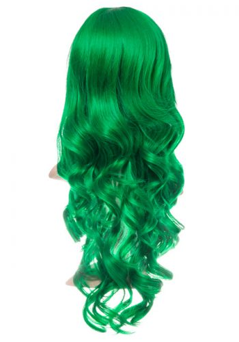 COLOUR PARTY CURLY FULL HEAD WIG - Green