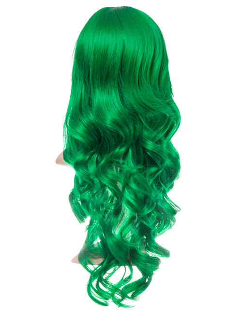 COLOUR PARTY CURLY FULL HEAD WIG – Green