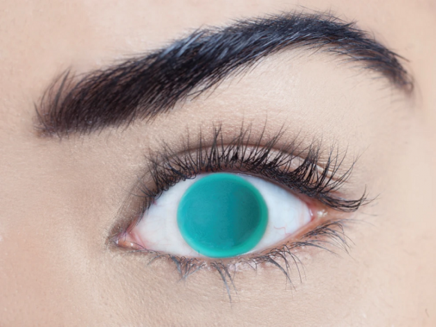 blind Green Contact Lenses