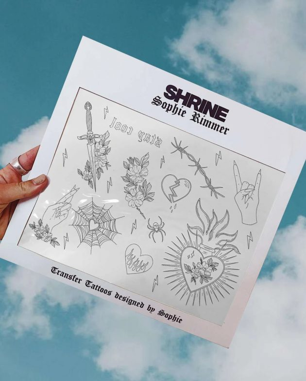 SHRINE – SOPHIE RIMMER HEARTS TATTOOS