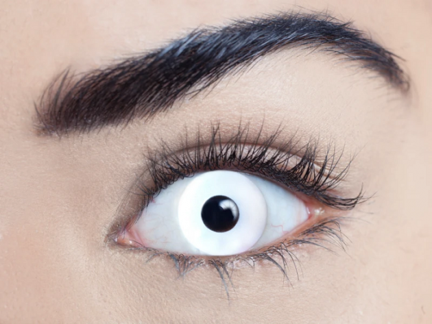 White-Out Contact Lenses