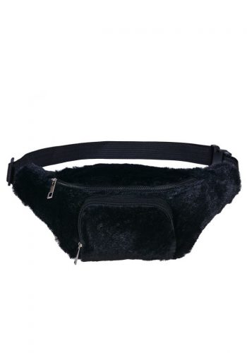 FLUFFY BUMBAG - BLACK